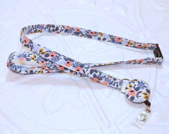 Rifle Paper Co Breakaway Safety Lanyard With Retractable Id Badge Holder - Teacher Lanyard