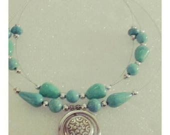 turquois floating necklace