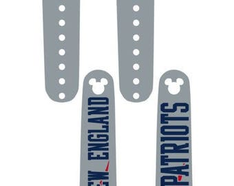IMPROVED 2.0 Magic Band Decals, Patriots, NE, football, monogrammed, personalized band