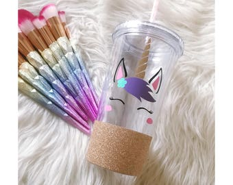 Majestic Unicorn Glitter Dipped Acrylic Tumbler // Unicorn // Unicorn Vibes // Unicorn Cup// Glitter Cup // Glitter Sips