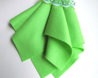 Grasshopper, Pure Wool Felt, Choose Size, Large Felt Square, Wool Felt Sheet, Craft Supply, 100% Merino, Bright Green Felt, DIY Craft Supply
