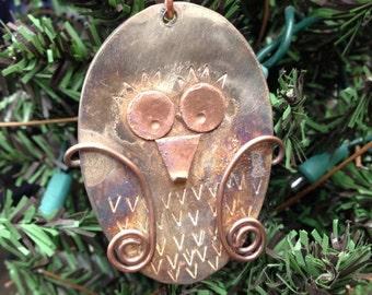 Spoon Owl Ornament