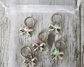 Set Bows Stitch Markers/Stitchmarkers bowtie