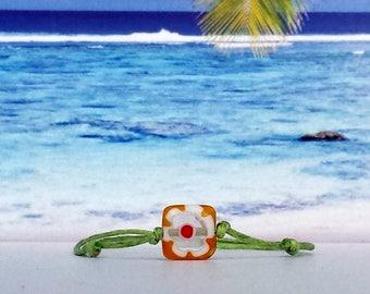 Wax Bracelet-Glass bead-Surferarmband-pearl-beach-yoga-outdoor-fitness-flower-Silvana-beach-jewellery-Beach poems