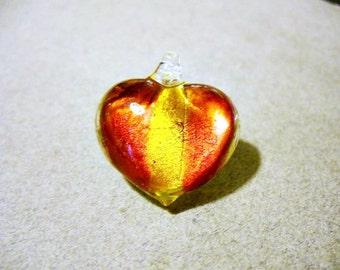 Pendant  Lampwork Glass Heart 24x24MM