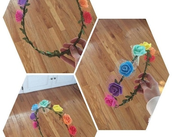 Rainbow Flower Crown Gay / LGBT Pride