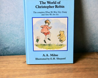The world of Christopher Robin Winnie the Pooh vintage children's book 1991 A.A.Milne E.H Shepherd collectable