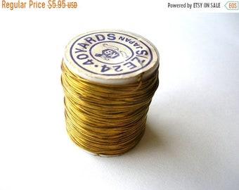 Clearance Sale 120 Feet Vintage Brass Jewelry Wire - Raw Brass Wire - Patina Brass Wire - Jewelry Findings - Jewelry Supplies