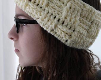 Handmade Headband, Crochet Ear Warmer, Crochet Hat, Winter Ear Warmer, Winter Headband, Size Adult