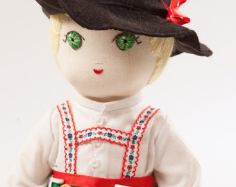Hans from Germany - Handmade Cloth Doll