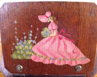 Wooden painted letter rack 1940/1950