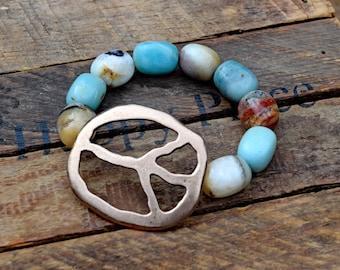 Bronze Peace Bracelet