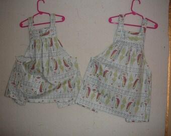Twin Girls' aprons