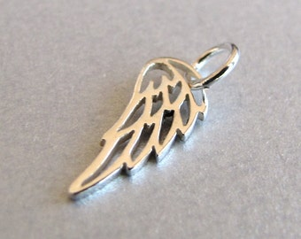 Mini Sterling Silver Angel Wing Charm
