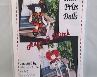 Miss Priss Dolls Pattern Angel and Witch UNCUT