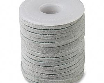 Genuine Suede Leather Cord Lace Grey 3mm wide for necklaces and bracelets, 10 or 25 ft.
