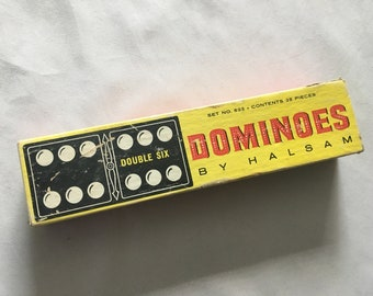 Dominoes By Halsam Set No. 623 28 Pieces Complete In Original Box