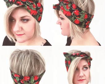 Pin up cherry headband