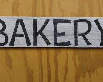 Wooden BAKERY Sign Hanger for Kitchen, Pantry, Dining Room