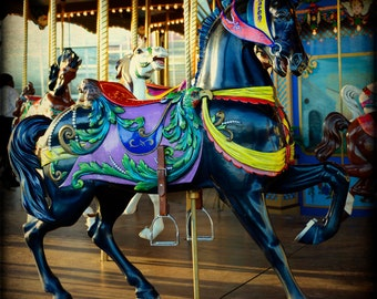 Fine Art Photography Print State Fair of Texas Wall Art Rustic Home Decor Horse Carousel