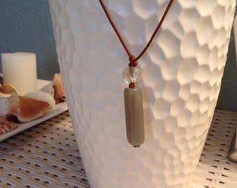 Boho Leather Cord Crystal
