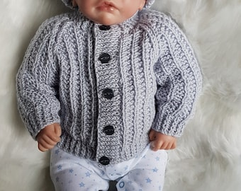 Jacob Baby Cardigan, Hat & Booties knitting pattern * Instant Download*