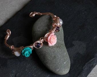 Handmade Wrapped Rose Golde Bracelet