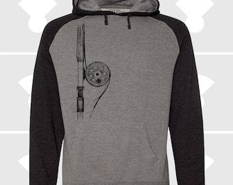 Raglan Hoodie - Fly Fishing Rod
