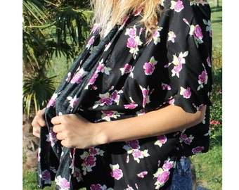 Pink and black women liberty kimono