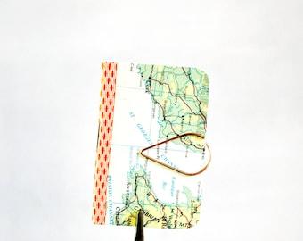 Mini Map Notebook Gift Pack | Map Blank Book | Mini Notebook | Travel Theme Party | Teachers under 5 | Nerdy Friend Gift | Stocking Stuffer