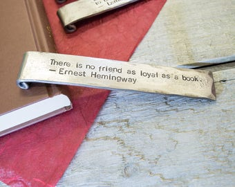 Iron Bookmark with an Inspirational Quote