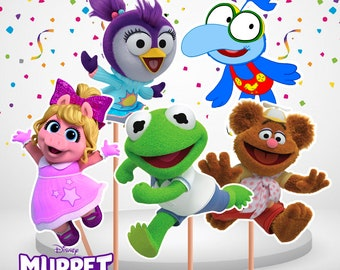 Muppet Babies Centerpieces Double Sided, 5 Centerpieces, Printable, Muppet Babies Partyl, Instant Download