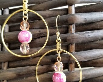 Gold and Flowers earrings