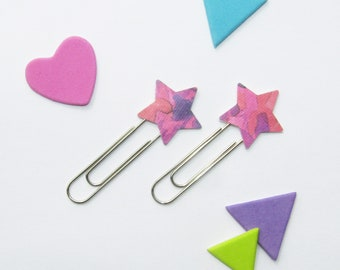 Pink Star Paperclips (Set of 2) *FREE UK POSTAGE*