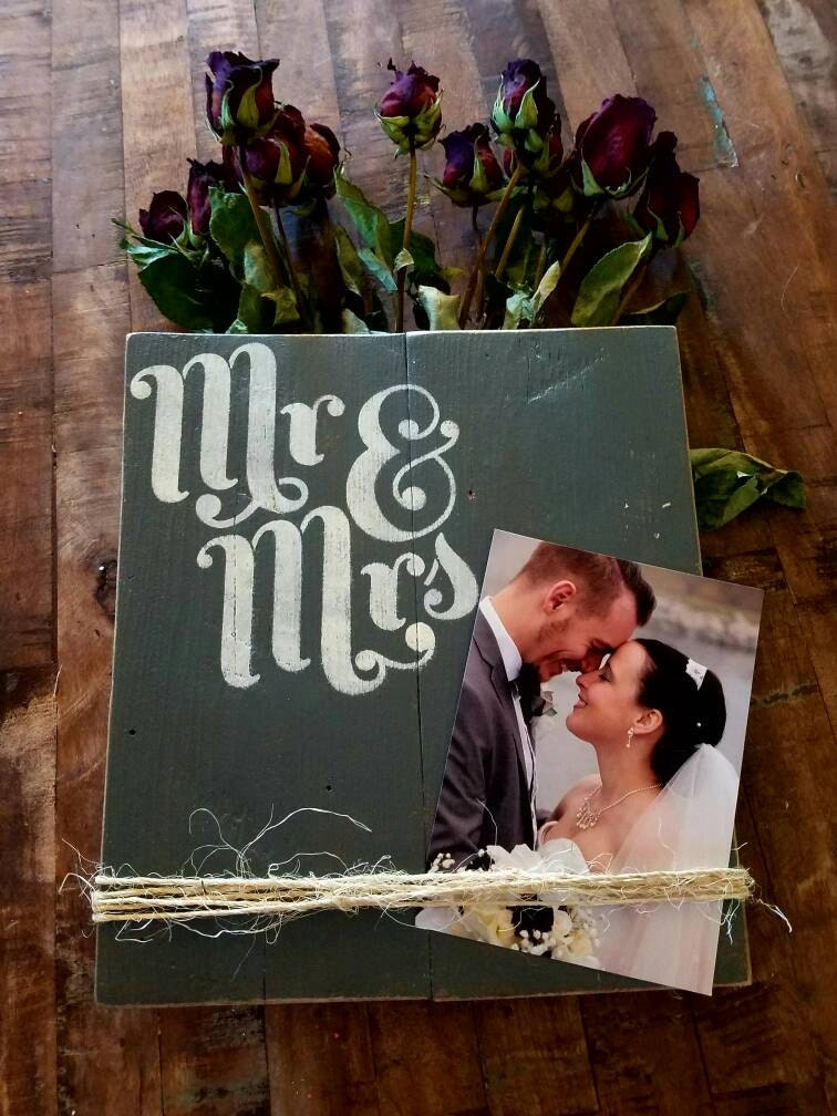 Wooden Picture Frame Free Shipping Mr Mrs Picture Frame