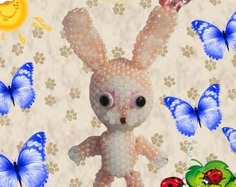 "Pattern / Tutorial Beaded Ornament - Master class for creating""Bunny"""
