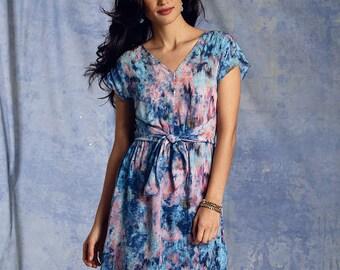 Vogue Sewing Pattern V1395 Misses' Waist-Tie Dress
