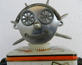 British Robot Woman- Found Object Assemblage