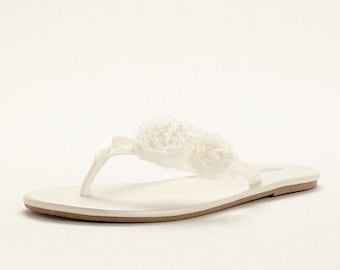 Wedding Sandals - Bow, Flower sandals perfect for Bridal, Bridesmate, wedding goers