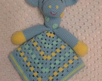 Security Blanket, Crochet Lovey, Giraffe Lovey, Baby Boy Gift, Baby Shower Gift, Blanket
