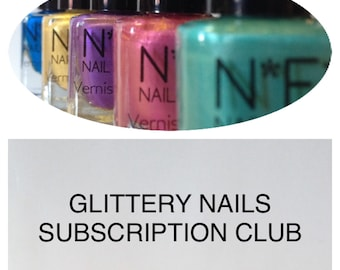Glittery Nails Subscription Club, Monthly Subscription, Nail Polish Subscription, Vegan Subscription, Gift Subscription