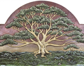 Dignity - Cast Paper - Large - Tree - Green - Spreading Oak - Landscape - Arbor - Big Tree