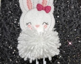 Pompom Bunny Planner Clip