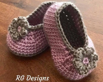 Crochet Baby Girl Shoes 100% Cotton
