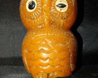 Halloween Winking Owl Candle /Halloween Decoration / Hooter Candle / Party Decor / Porch Candle / Trick or Treat / Hoot Hoot / Hand Painted