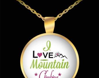 I love mountain climbing necklace