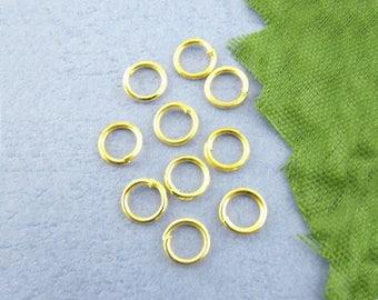 100 jumprings Gold 5 mm open jump set M01715 0.7 mm