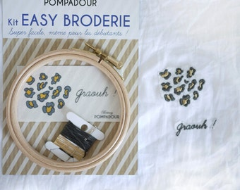 Graouh! -EASY embroidery kit