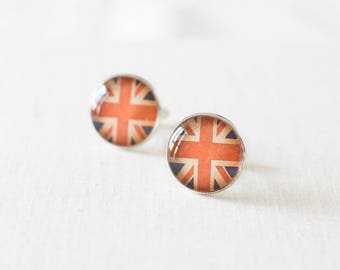 Union Jack Cufflinks. British Flag Cuff Links for Men.