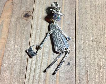Spoon pendant, Lady pendant, One of a kind spoon pendant, silverware doll, Unique silverware pendant, boho jewelry,boho pendant,unique stuff